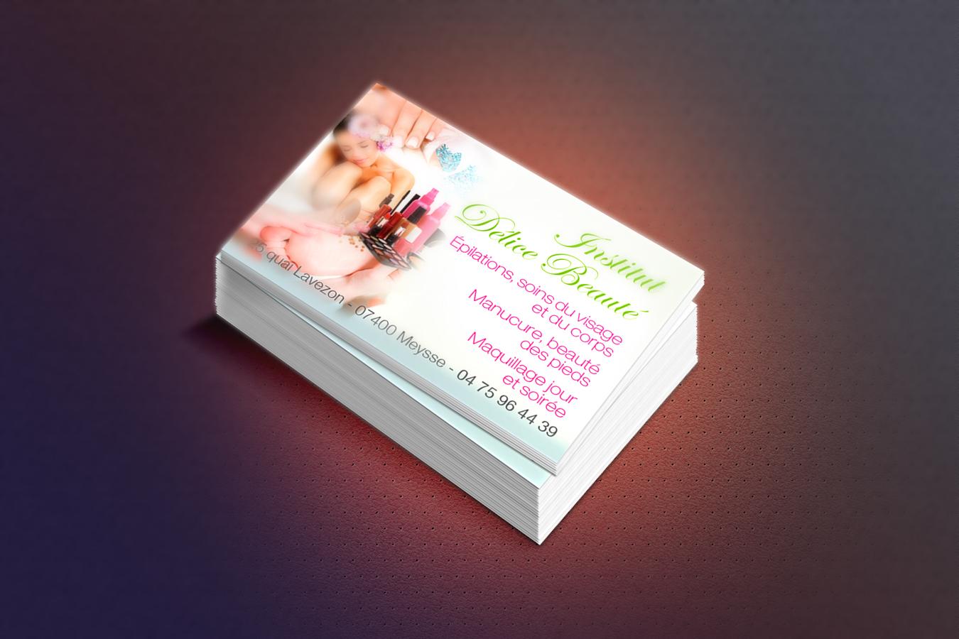 Cartes De Visite Institut Delice Beaute Agence 2S Com